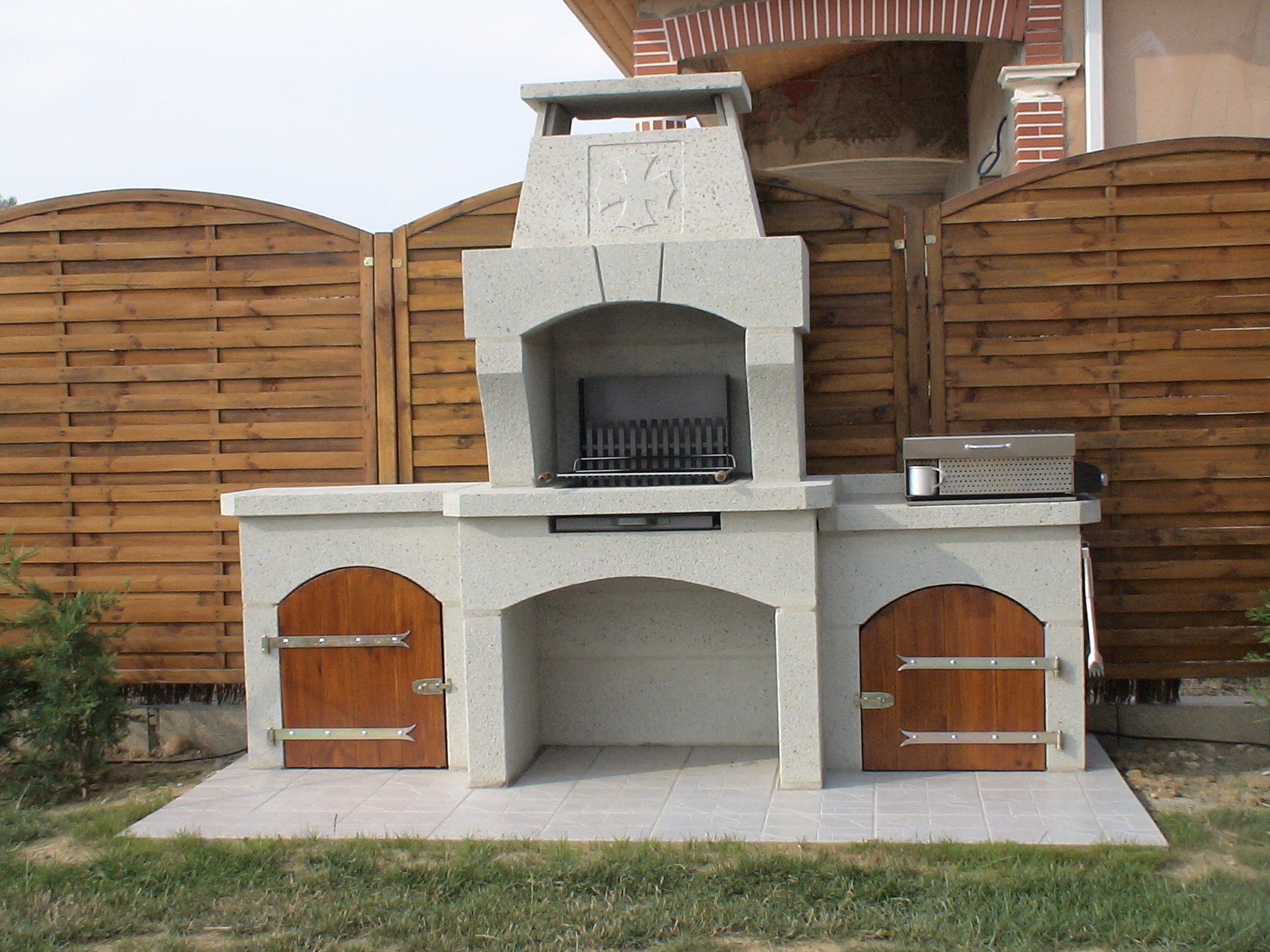 Decoration exterieur for Barbecue en pierre de taille